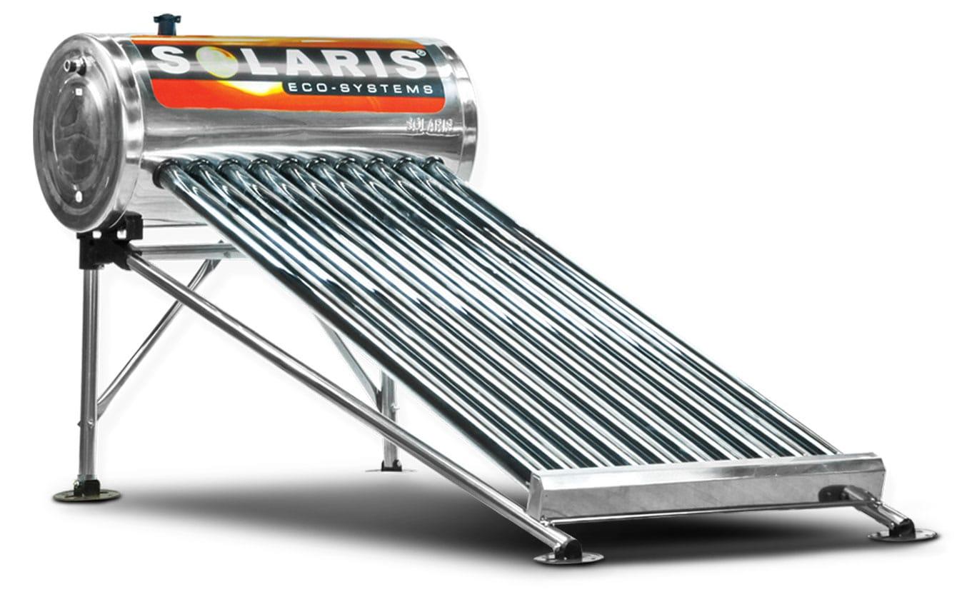 Calentador Solar para 3 personas 10 tubos marca solaris calentador solar solaris