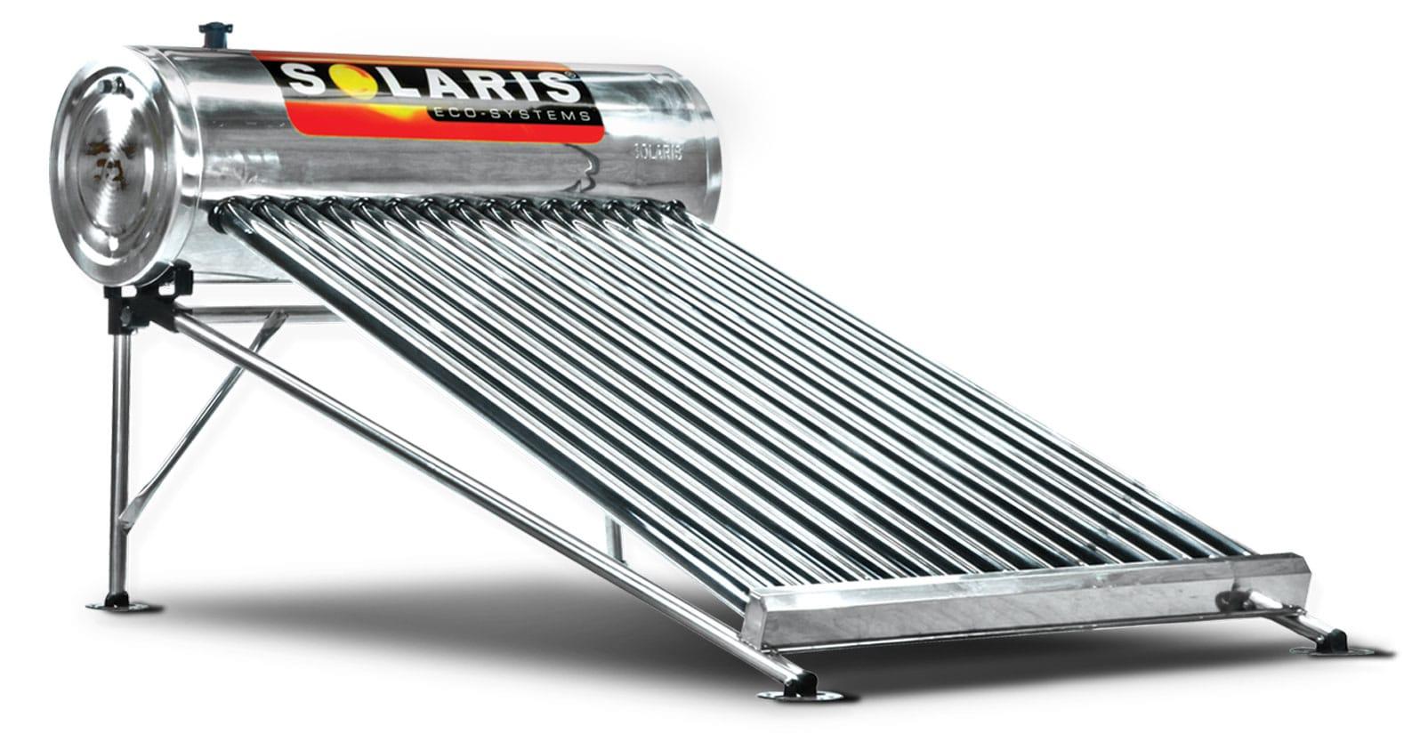 Calentador Solar para 5 personas 10 tubos marca solaris calentador solar solaris