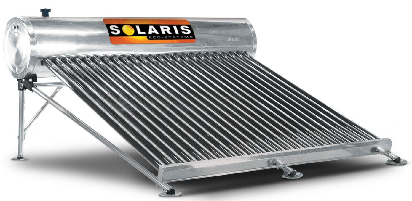 Calentador Solar para 8 personas 24 tubos marca solaris calentador solar solaris